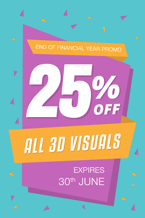 Image of Promo: 25% OFF 3D SERVICES